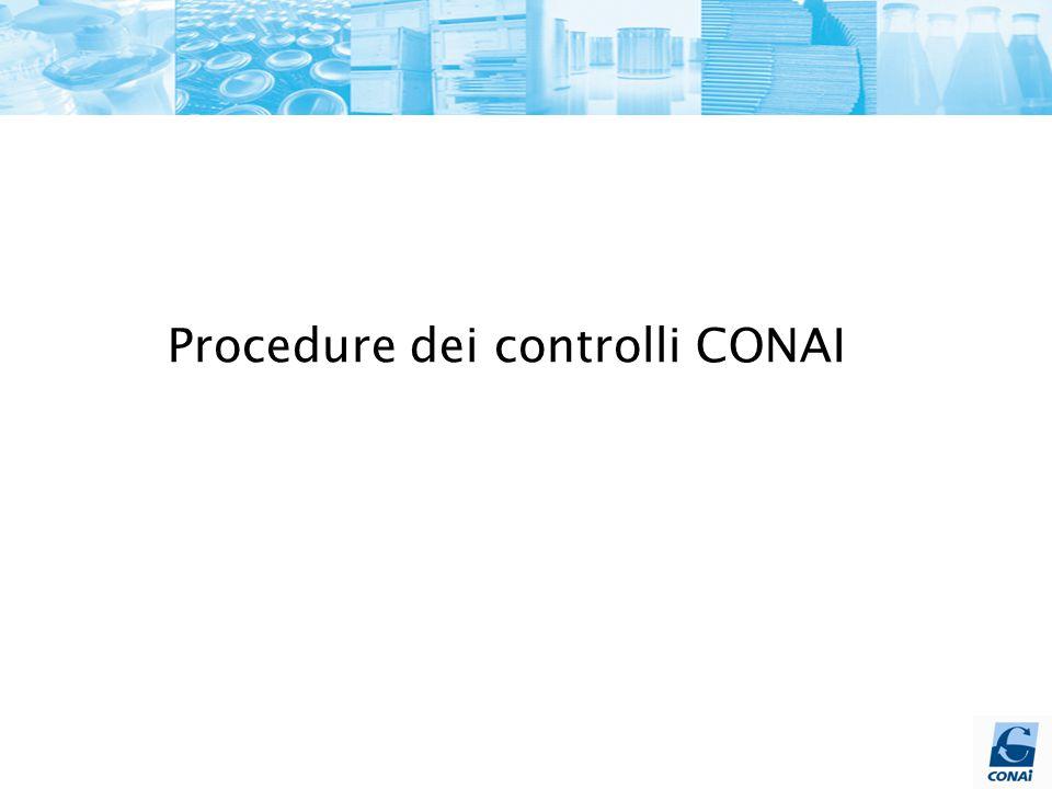 Procedure dei controlli CONAI