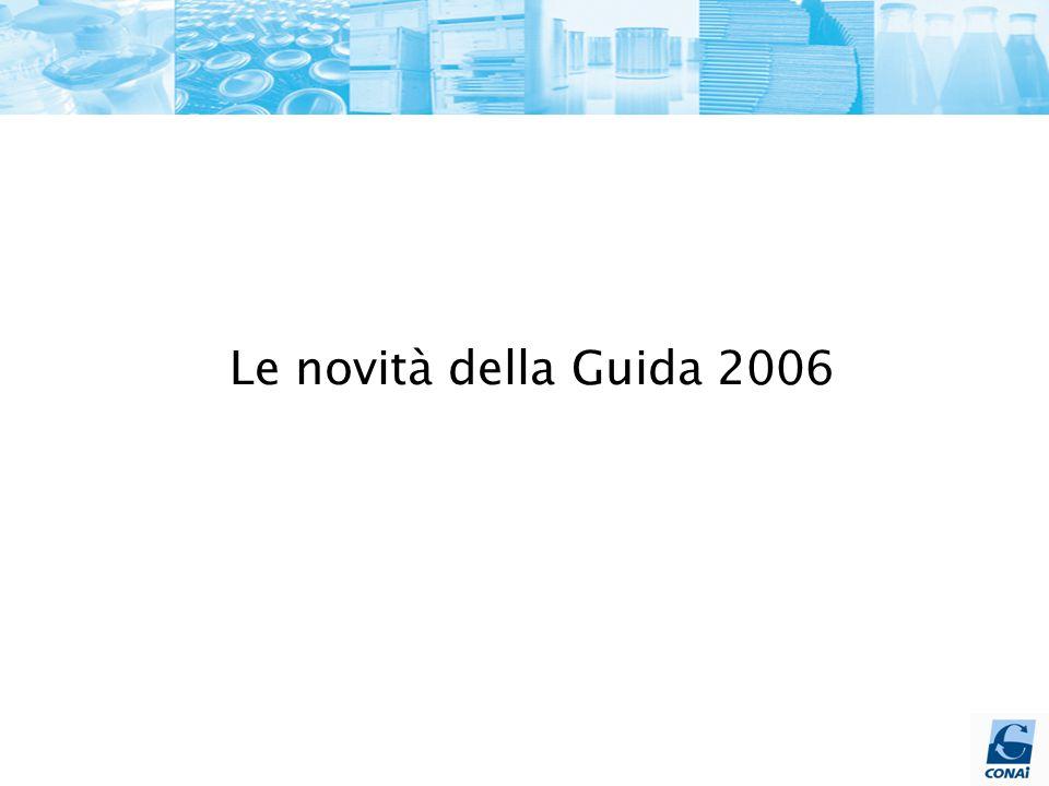 Le novità della Guida 2006