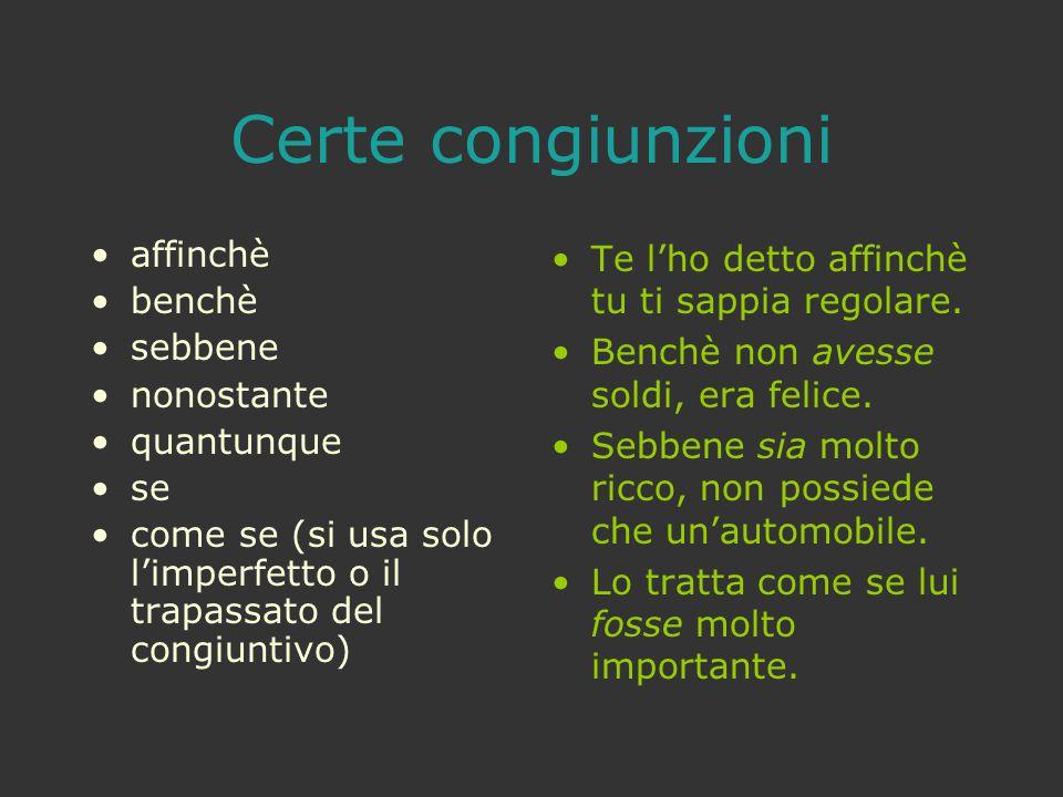Frase principale - Verbo al presente Frase dipendenteEsempi azione passataCong.