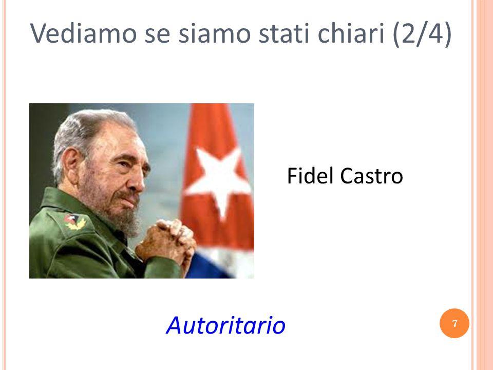 7 Vediamo se siamo stati chiari (2/4) Autoritario Fidel Castro