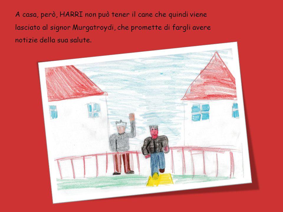 A casa, però, HARRI non può tener il cane che quindi viene lasciato al signor Murgatroydi, che promette di fargli avere notizie della sua salute.
