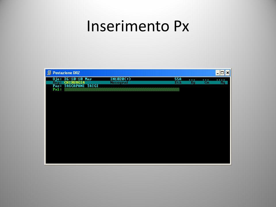 Inserimento Px