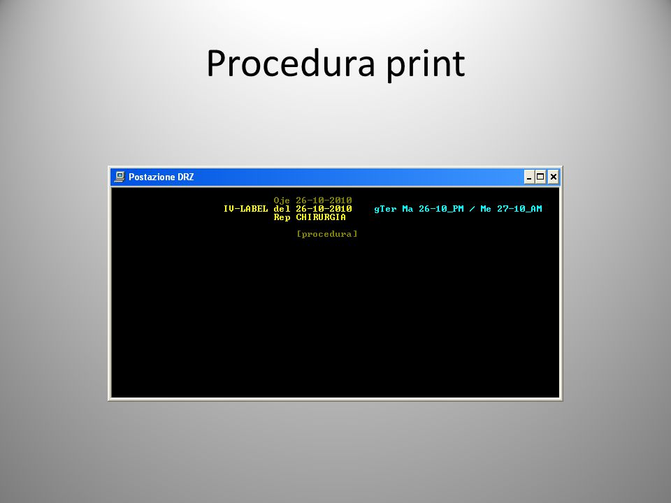 Procedura print