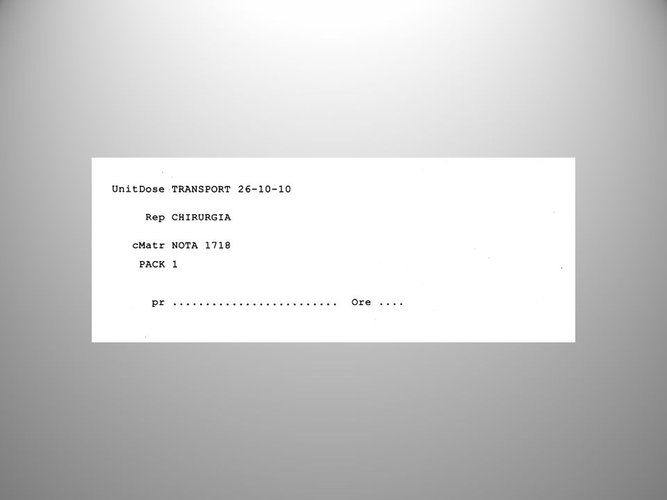 registro di reparto