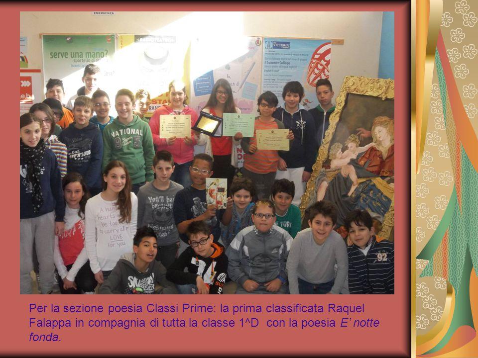 Per le Classi Seconde: i primi classificati sono stati Luca Campanelli e Syria Palumbo classe 2^E con la poesia Arriva l'autunno.