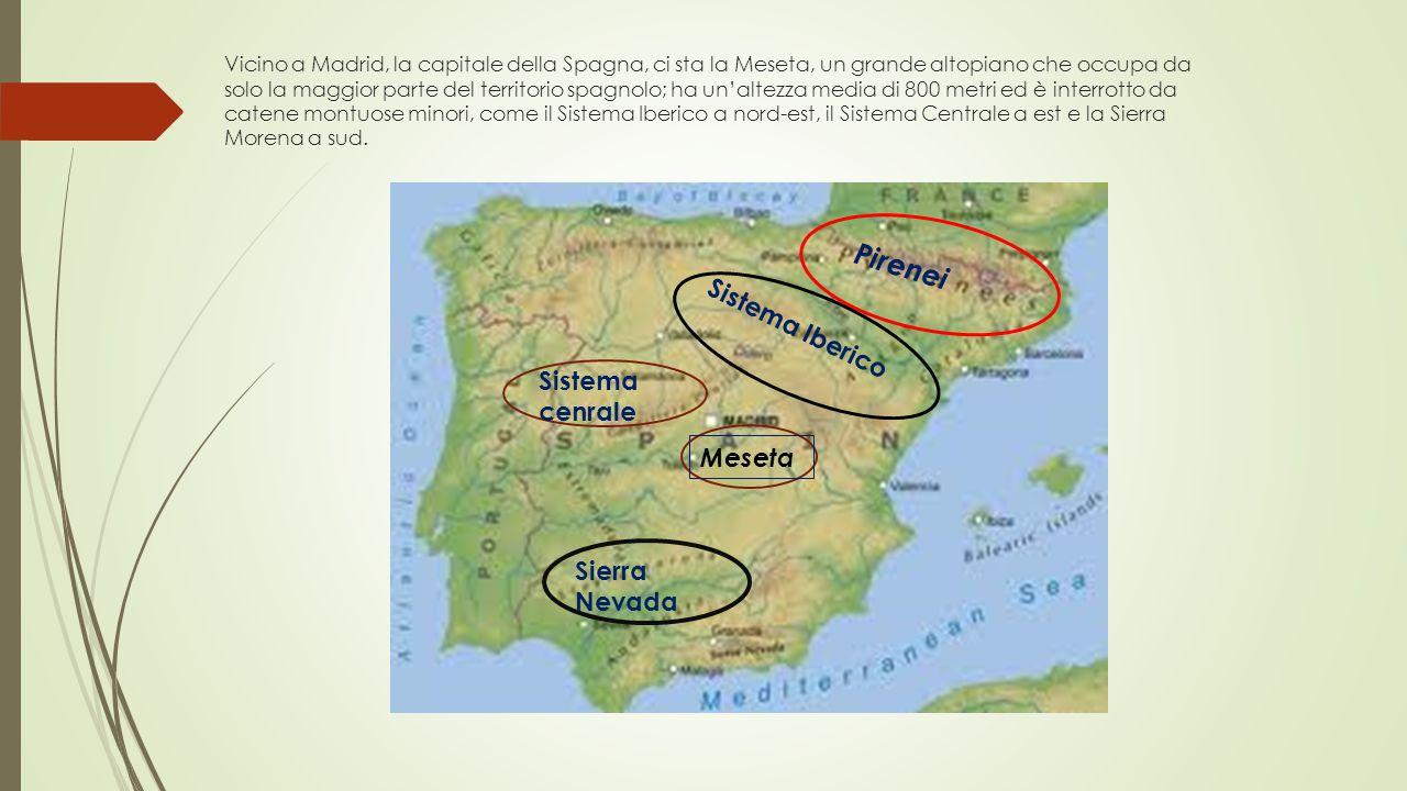 Vicino a Madrid, la capitale della Spagna, ci sta la Meseta, un grande altopiano che occupa da solo la maggior parte del territorio spagnolo; ha un'al
