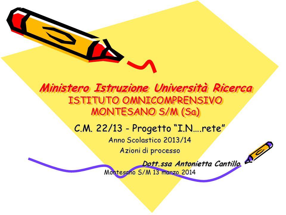 Ministero Istruzione Università Ricerca ISTITUTO OMNICOMPRENSIVO MONTESANO S/M (Sa) C.M.