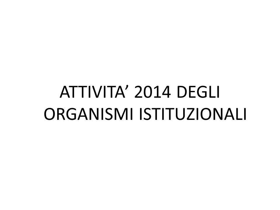 ATTIVITA' 2014 DEGLI ORGANISMI ISTITUZIONALI
