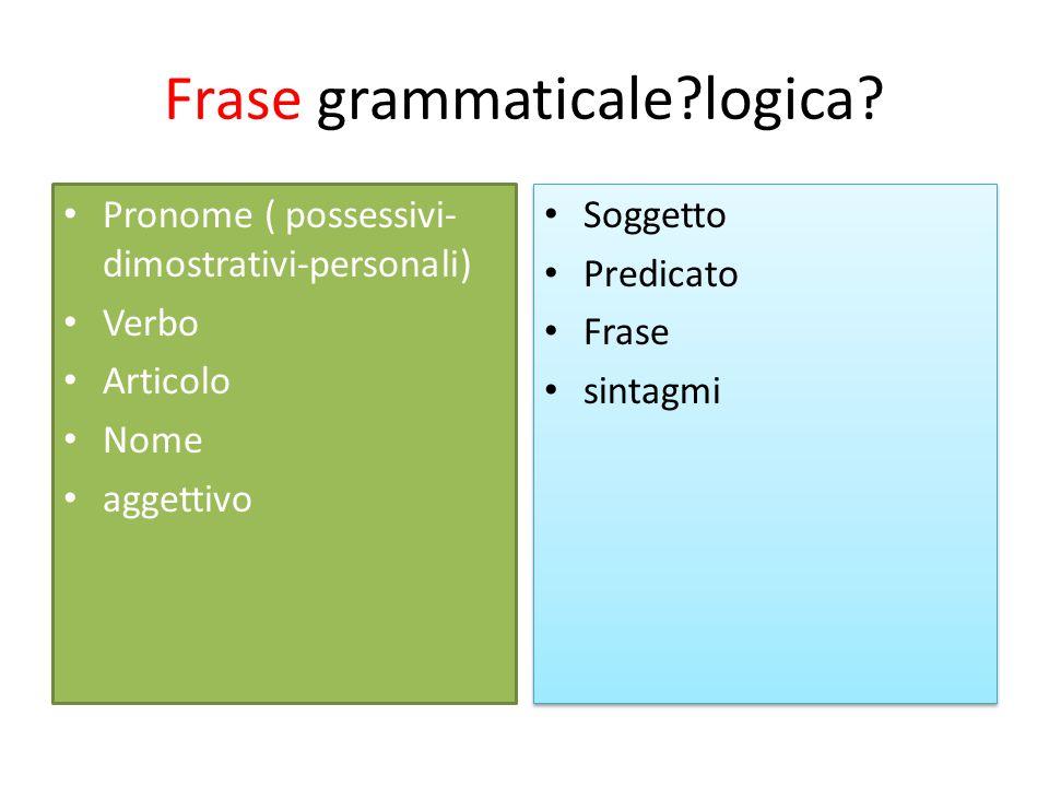 Frase grammaticale?logica.