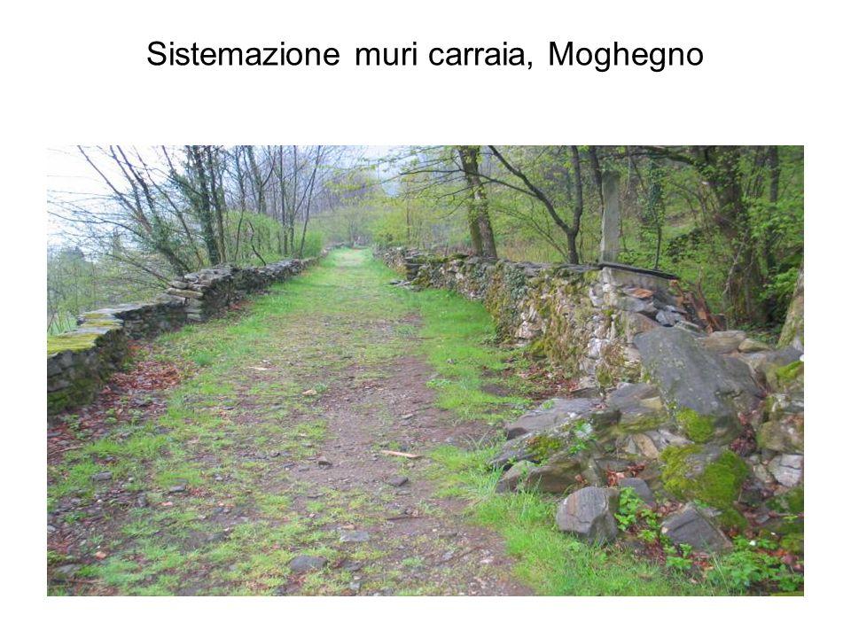 Sistemazione muri carraia, Moghegno