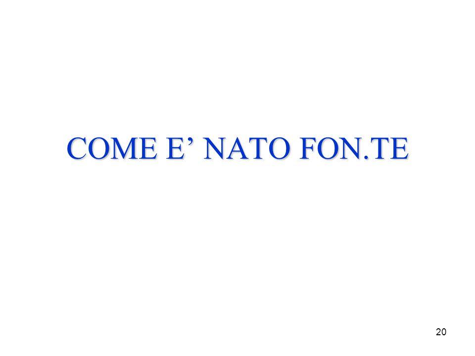 20 COME E' NATO FON.TE