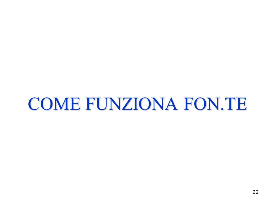 22 COME FUNZIONA FON.TE