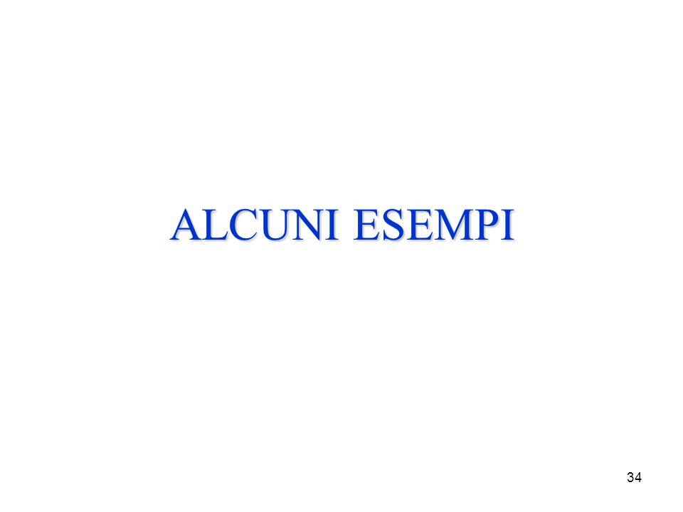 34 ALCUNI ESEMPI