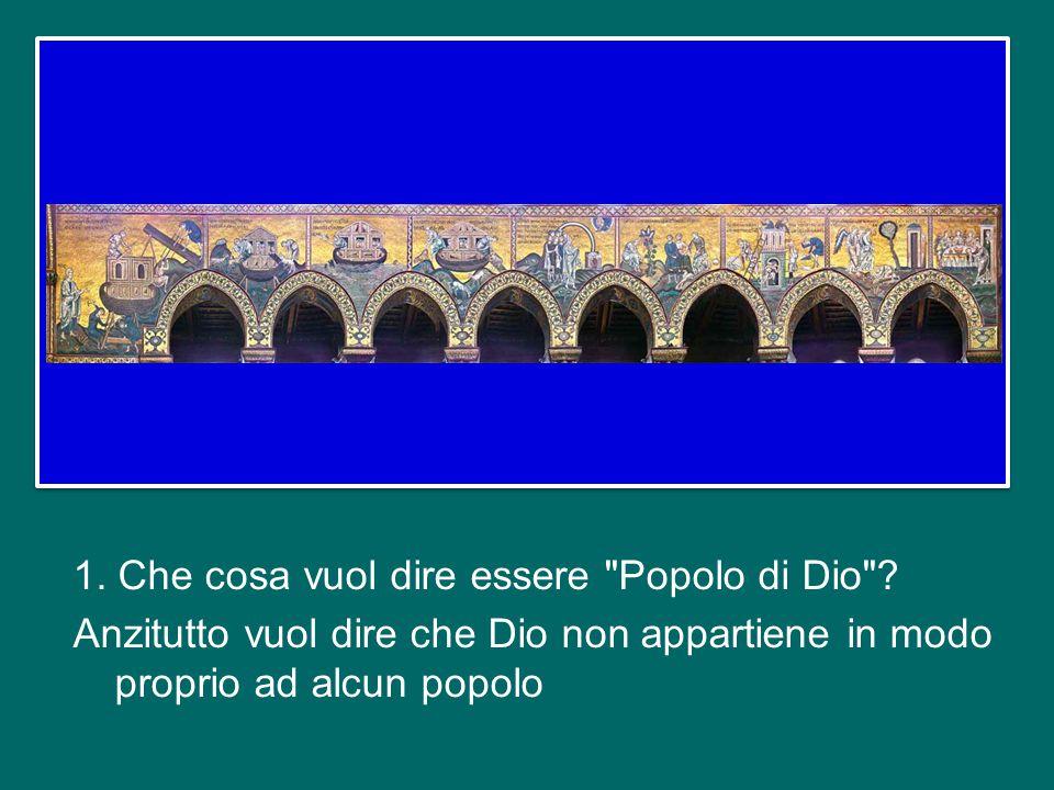Oggi vorrei soffermarmi brevemente su un altro dei termini con cui il Concilio Vaticano II ha definito la Chiesa, quello di Popolo di Dio (cfr Cost.