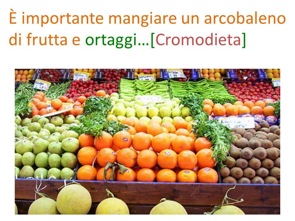 È importante mangiare un arcobaleno di frutta e ortaggi…[Cromodieta]