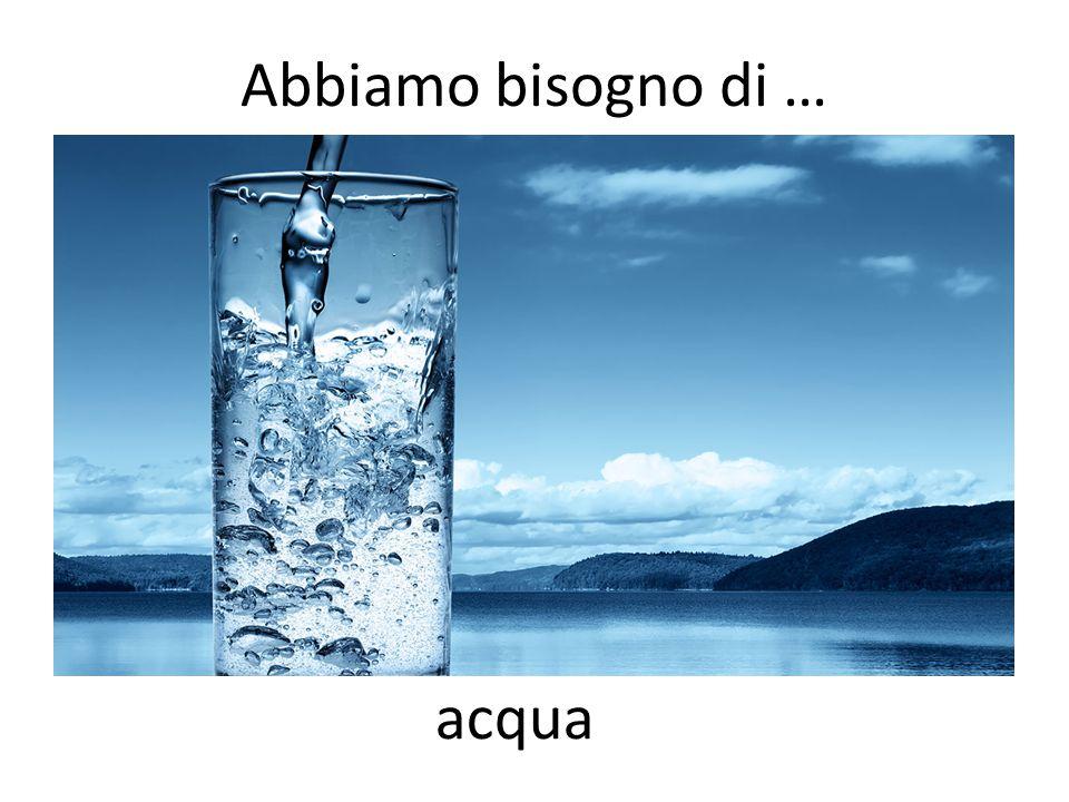 Abbiamo bisogno di … acqua