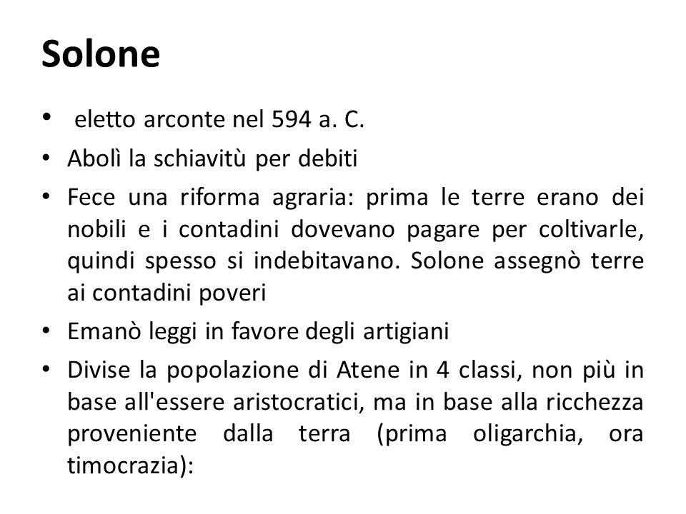 Solone eletto arconte nel 594 a.C.