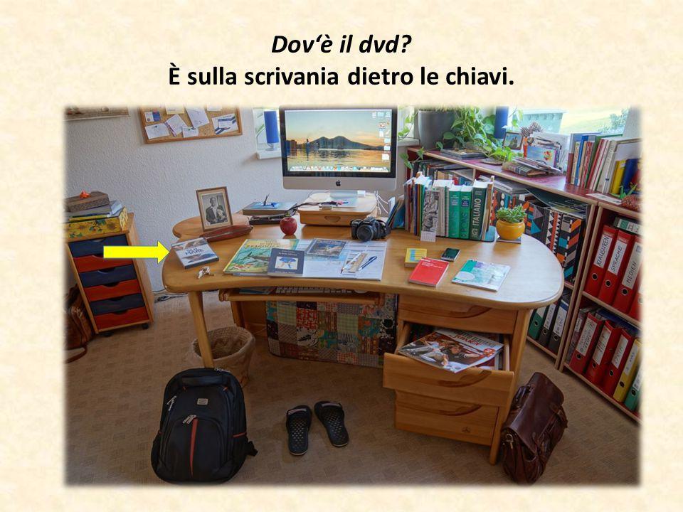 Dov'è il dvd? È sulla scrivania dietro le chiavi.