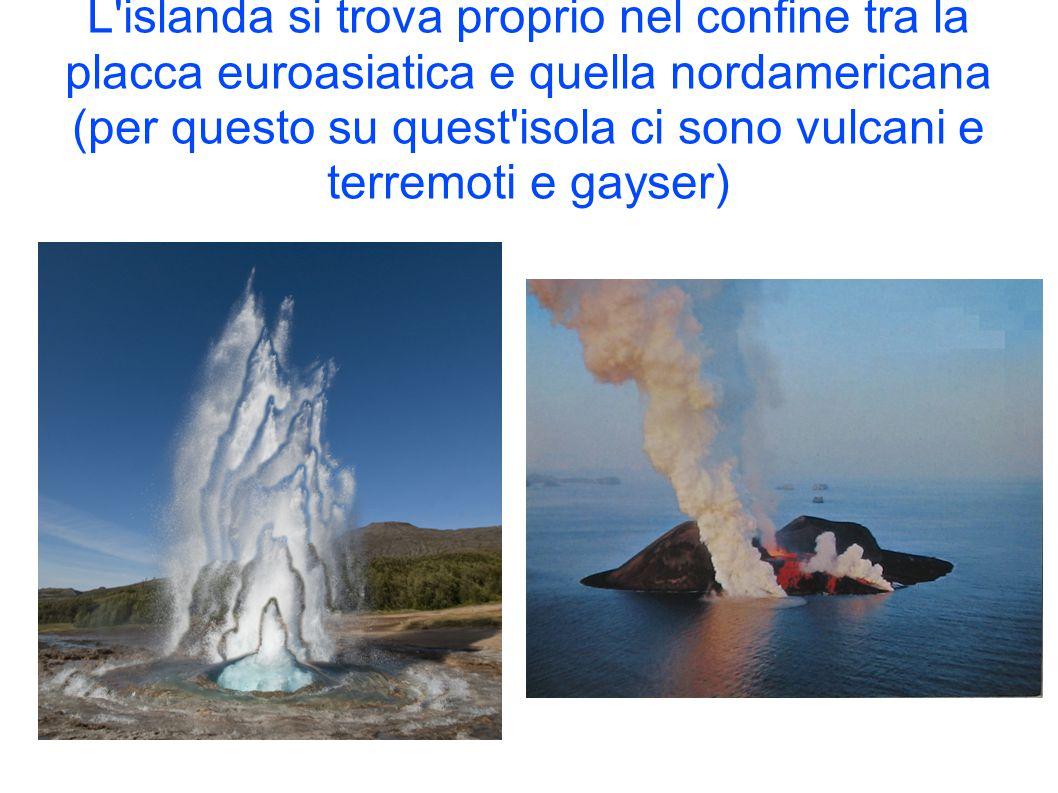 L'islanda si trova proprio nel confine tra la placca euroasiatica e quella nordamericana (per questo su quest'isola ci sono vulcani e terremoti e gays