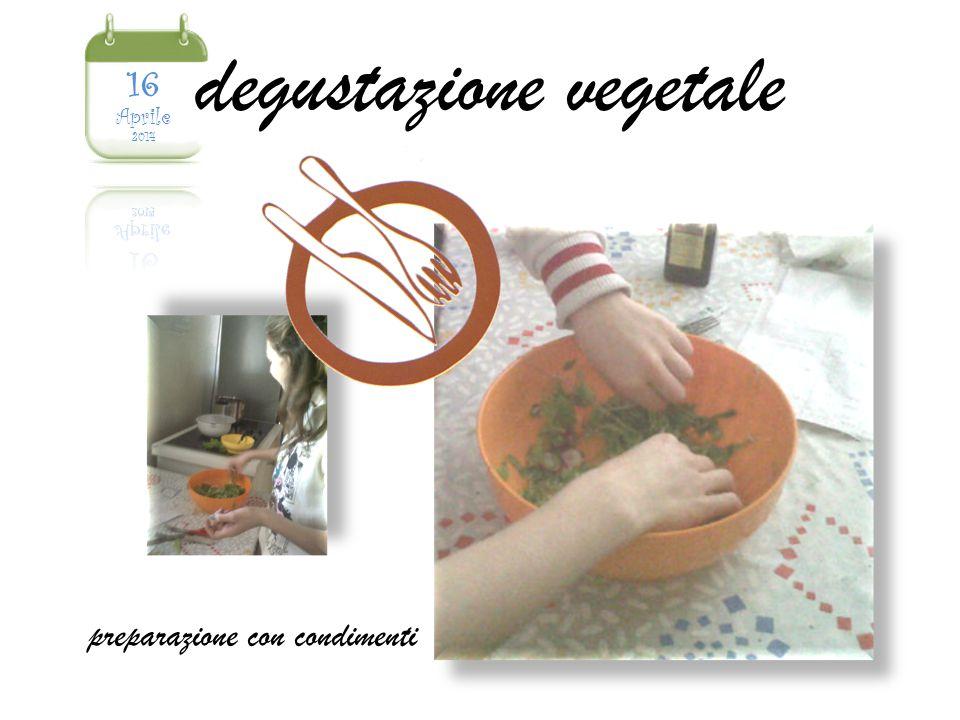 degustazione vegetale preparazione con condimenti