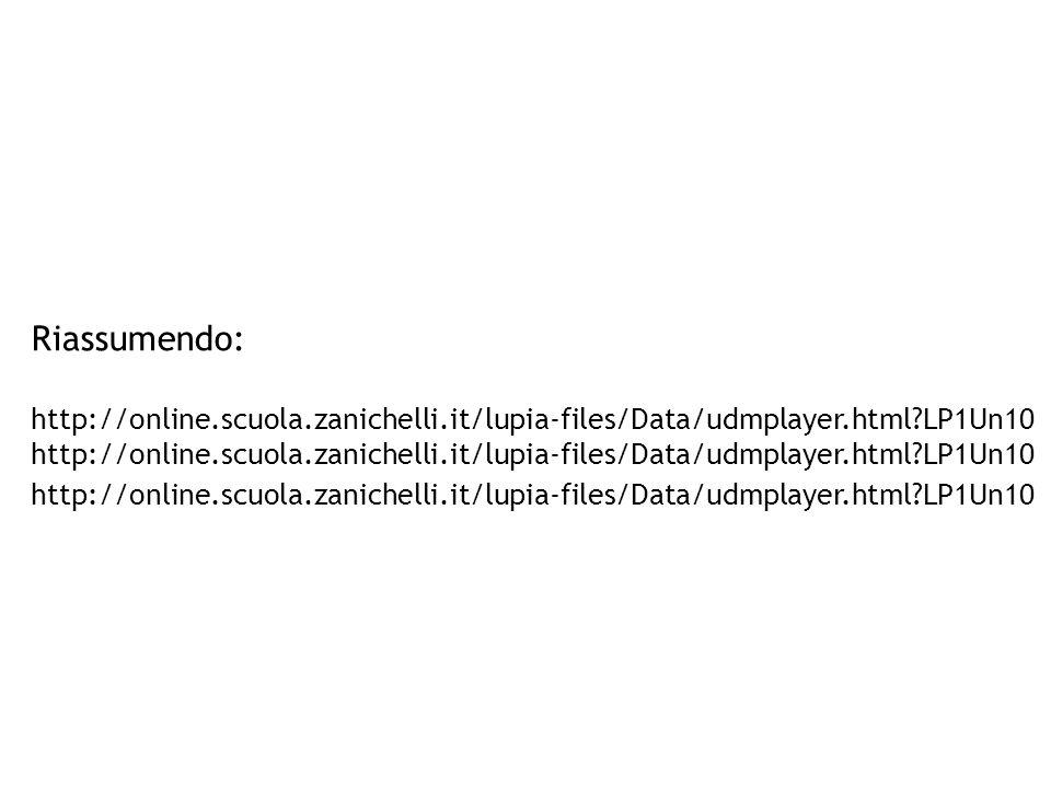 Riassumendo: http://online.scuola.zanichelli.it/lupia-files/Data/udmplayer.html?LP1Un10