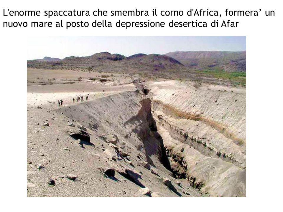 L'enorme spaccatura che smembra il corno d'Africa, formera' un nuovo mare al posto della depressione desertica di Afar