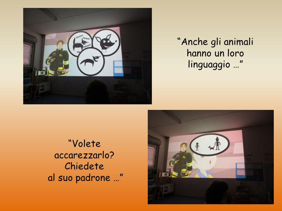 """""""Anche gli animali hanno un loro linguaggio …"""" """"Volete accarezzarlo? Chiedete al suo padrone …"""""""