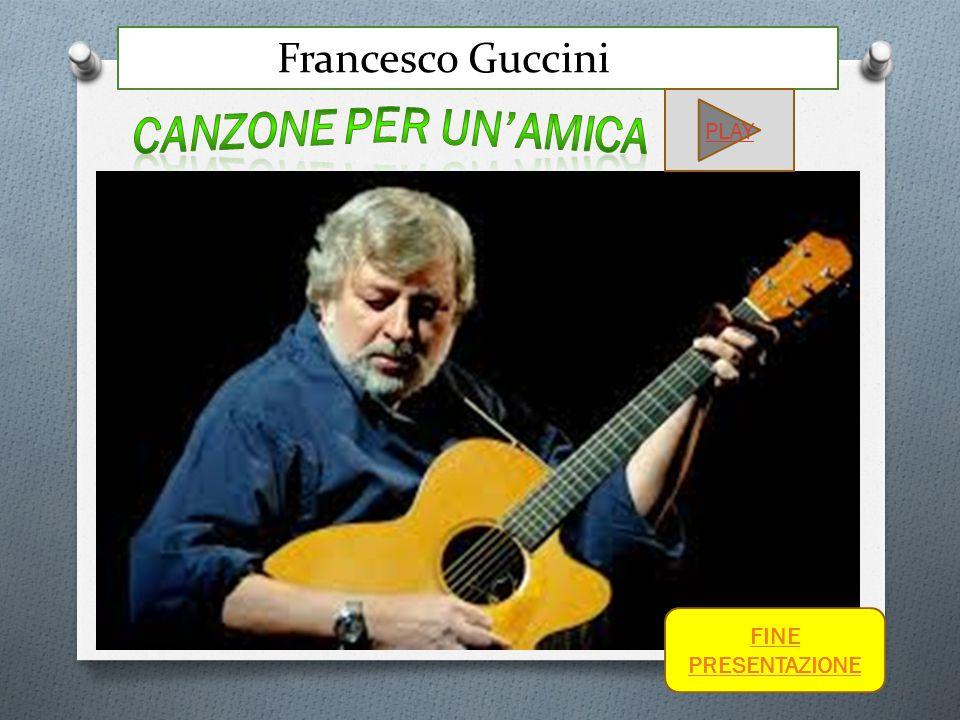 Francesco Guccini PLAY FINE PRESENTAZIONE
