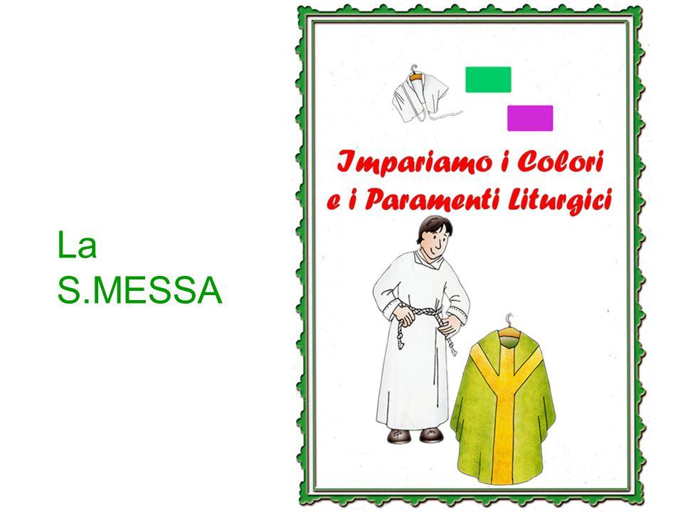 Impariamo i COLORI ed i PARAMENTI LITURGICI Chissà quante volte ti sei chiesto perché il sacerdote, ogni tanto, cambia il colore degli abiti che indossa durante la Messa, come anche quello di alcuni arredi della chiesa.