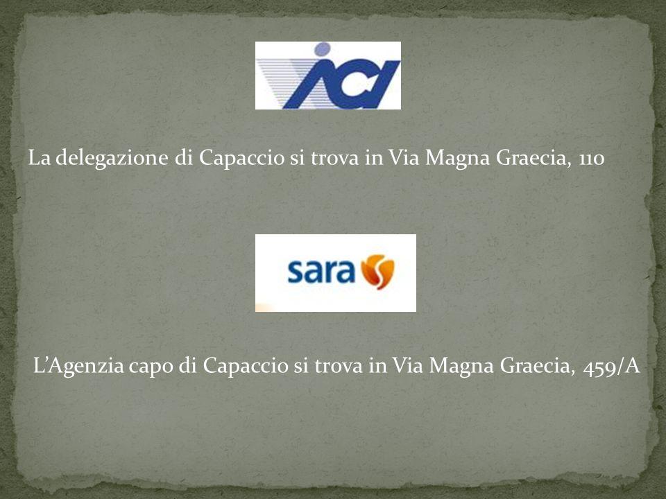 La delegazione di Capaccio si trova in Via Magna Graecia, 110 L'Agenzia capo di Capaccio si trova in Via Magna Graecia, 459/A