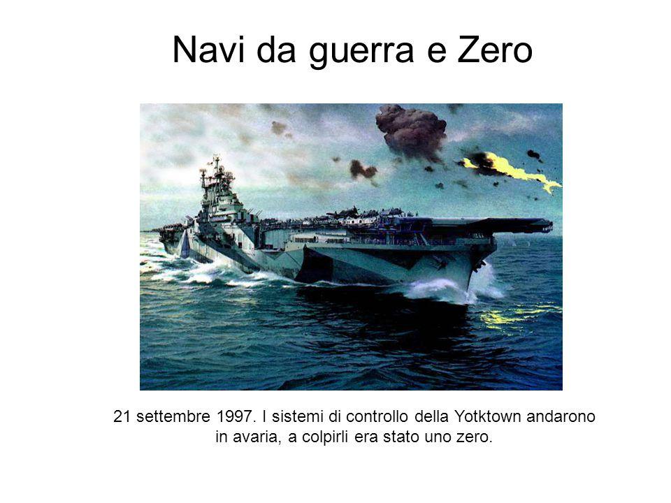 Navi da guerra e Zero 21 settembre 1997. I sistemi di controllo della Yotktown andarono in avaria, a colpirli era stato uno zero.