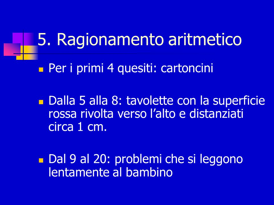 Punteggio e interruzione eses 1 punto per ogni risposta corretta 0: risposta è sbagliata e/o se il b.