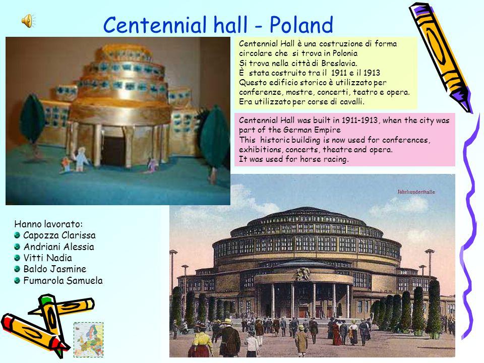 Centennial hall - Poland Centennial Hall è una costruzione di forma circolare che si trova in Polonia Si trova nella città di Breslavia.