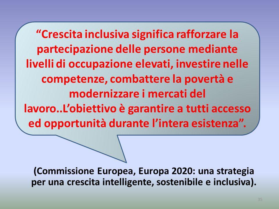 (Commissione Europea, Europa 2020: una strategia per una crescita intelligente, sostenibile e inclusiva).