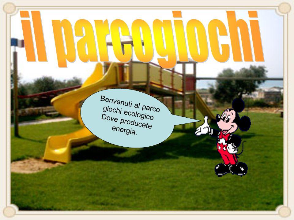 Benvenuti al parco giochi ecologico Dove producete energia.