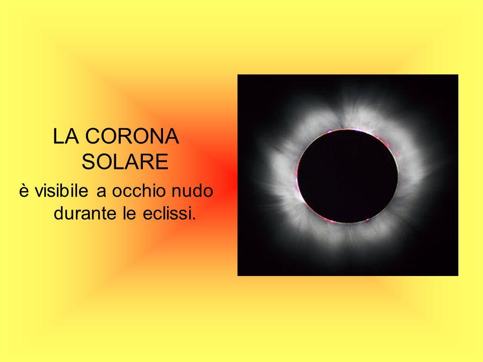 LA CORONA SOLARE è visibile a occhio nudo durante le eclissi.