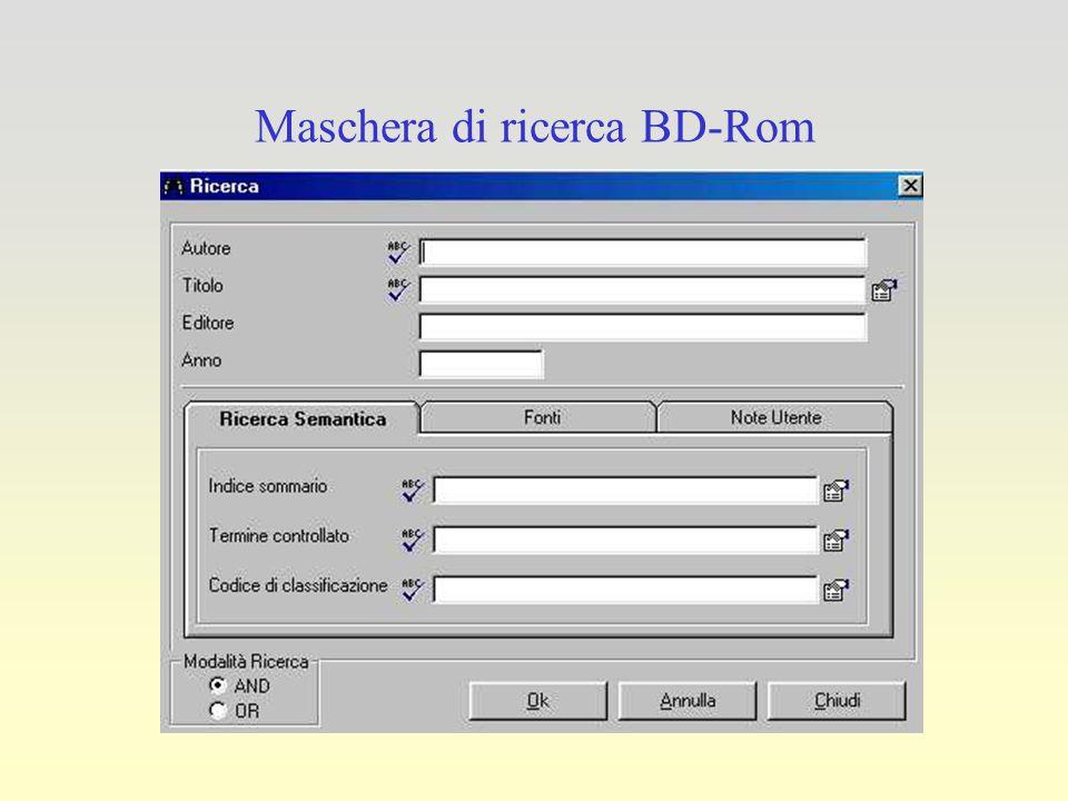 Maschera di ricerca BD-Rom
