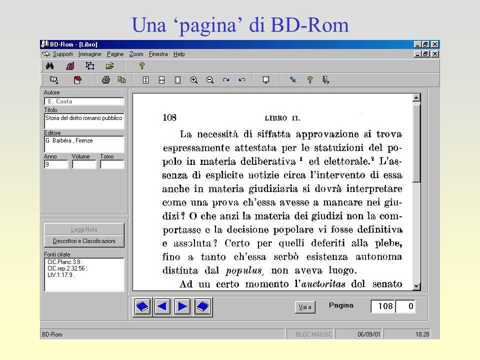 Una 'pagina' di BD-Rom