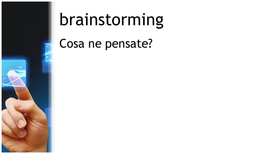 brainstorming Cosa ne pensate?