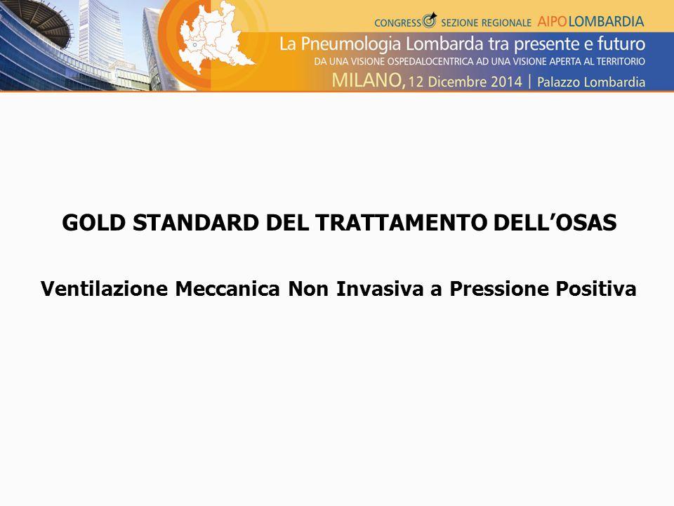 GOLD STANDARD DEL TRATTAMENTO DELL'OSAS Ventilazione Meccanica Non Invasiva a Pressione Positiva