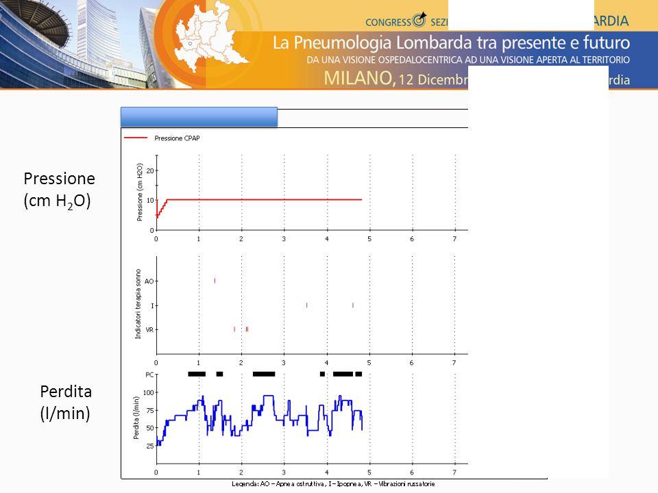 Perdita (l/min) Pressione (cm H 2 O)