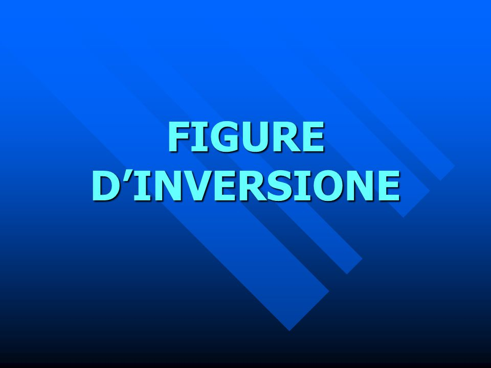 FIGURE D'INVERSIONE