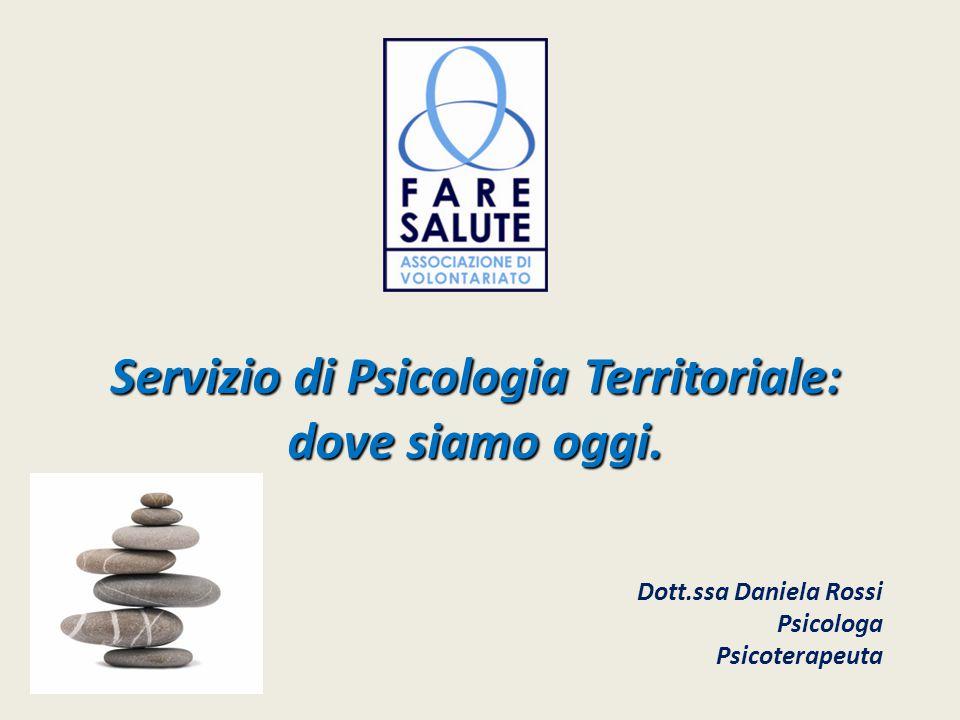 Servizio di Psicologia Territoriale: dove siamo oggi. Dott.ssa Daniela Rossi Psicologa Psicoterapeuta