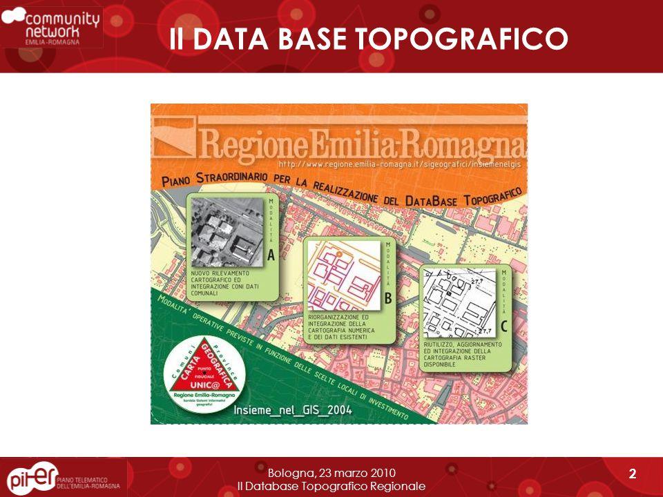 4) COMPLETAMENTO ED INTERGRAZIONE GRAFI STRADALI Bologna, 23 marzo 2010 Il Database Topografico Regionale 13