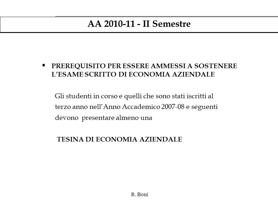 R.Boni Tesina di Economia Aziendale Cosa è.