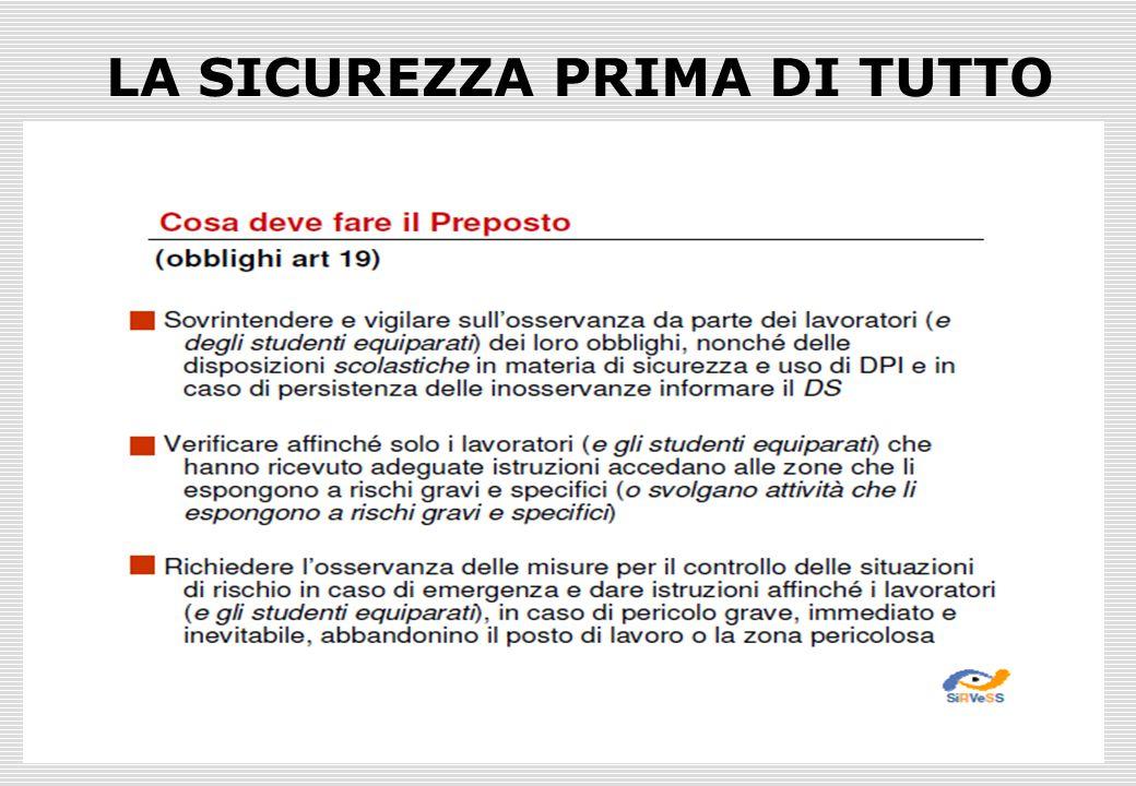 Prof. Giuseppe Cutrì - RLS ITI Marconi PD18 LA SICUREZZA PRIMA DI TUTTO
