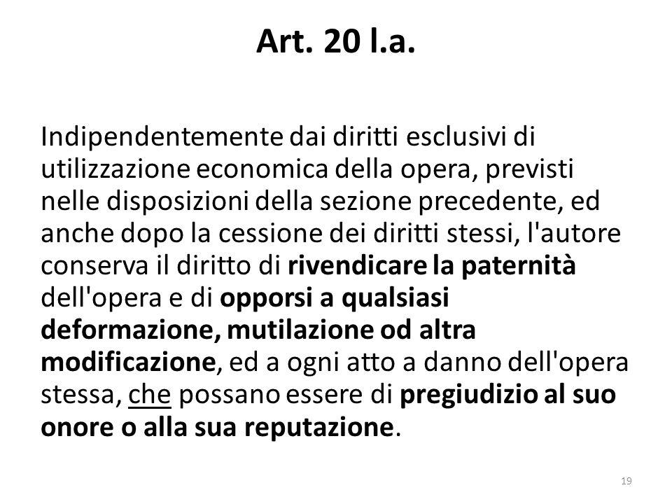 Art. 20 l.a.