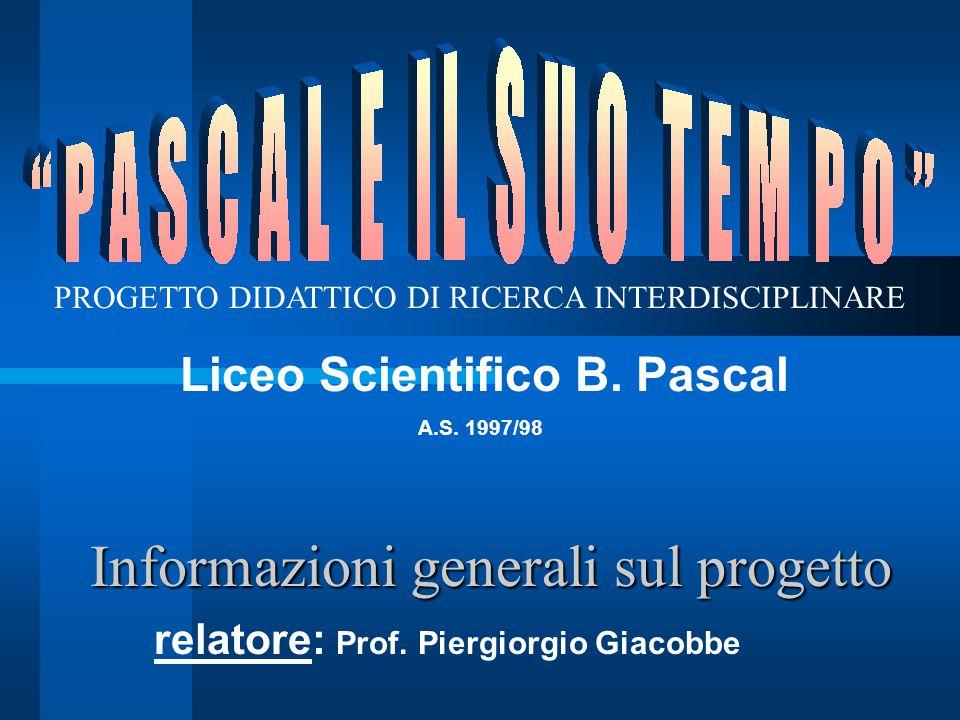 Informazioni generali sul progetto relatore: Prof.