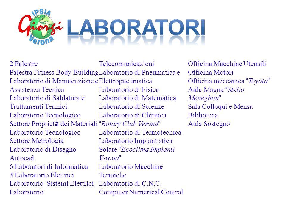 2 Palestre Palestra Fitness Body Building Laboratorio di Manutenzione e Assistenza Tecnica Laboratorio di Saldatura e Trattamenti Termici Laboratorio