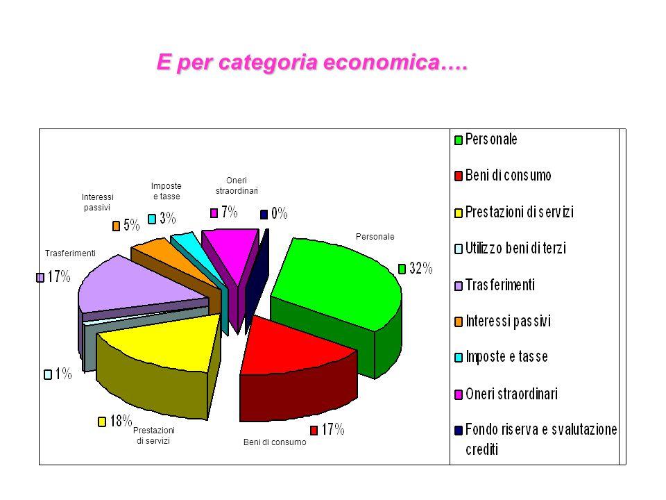 E per categoria economica….
